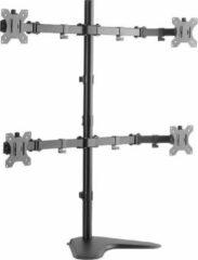 Grijze LogiLink BP0046 flat panel bureau steun 81,3 cm (32'') Doorvoer Roestvrijstaal