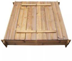 Bruine VidaXL Zandbak vierkant FSC geïmpregneerd hout