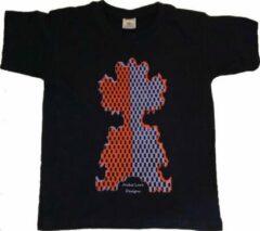 Marineblauwe B & C Anha'Lore Designs - Clown - Kinder t-shirt - Navy - 9/11j (134/146)