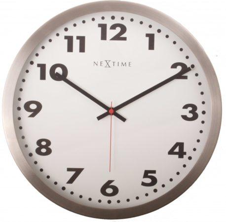 Afbeelding van NeXtime Arabic - Klok - Stil uurwerk - Rond - Aluminium - Ø25.7 cm - Wit