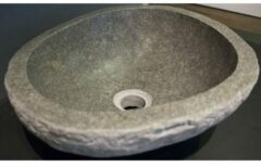 QeramiQ Specials waskom organische vorm 35 tot 45cm basalt 12110703