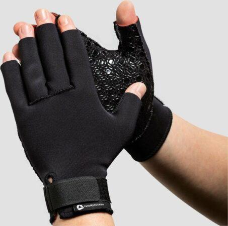 Afbeelding van Zwarte Artritis handschoenen van Thermoskin Large
