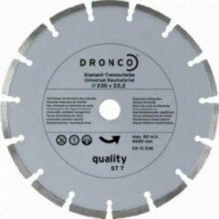 Zilveren Dronco Diamantschijf 230mm universeel gesegmenteerd Quality ST7 4230485