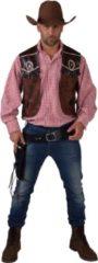 Bruine Magic by freddy Cowboy & Cowgirl Kostuum   Cowboy Vest Wide Westen Butch Man   Large / XL   Carnaval kostuum   Verkleedkleding