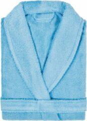 Badjas Badstof Uni Pure Royal met Shawlkraag maat XL Licht Blauw - 1 stuks