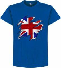 Retake Groot-Brittannië Ripped Flag T-Shirt - Blauw - Kinderen - 128