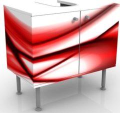 PPS. Imaging Waschbeckenunterschrank - Red Touch - Badschrank Weiß Rot