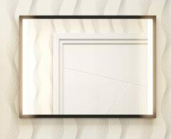 Muebles Davinci 80x60cm spiegel met verlichting en zwart frame