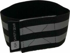 JGR Safety gear Veiligheids armbanden| Reflecterende armband | Sport armbanden | Wielrennen / Hardlopen veiligheidsband |armbanden armband hardloop wielren sport fiets hardloop zichtbaarheid - Zwart