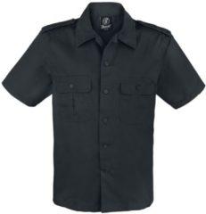 Brandit 1/2 Maniche Camicia US Camicia nero