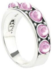 Symbols 9SY 0056 52 Zilveren Ring - Maat 52 - Rhodoniet - Roze - Geoxideerd