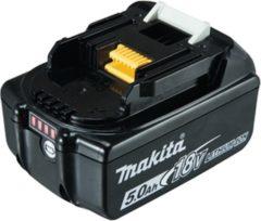 Zwarte MAKITA Accu BL1850B - 5,0 Ah - LED Indicatie - Li-ion - 18 V