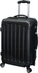 Zwarte JSA Reistrolley CARBON LOOK POLYCARBONATE/ABS materiaalmix