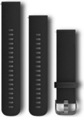 Garmin Ersatzarmband vivomove HR Silikon schw/Schiefer (20mm)