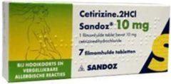 Sandoz Cetirizine Dichl 10 Mg Uad (7tb)