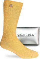 Gouden Button Right Sokken voor dames die bij elkaar blijven in de was 35-38