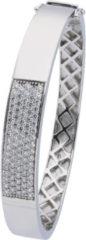Classics Zilveren Slavenband Zirkonia 8 Mm - Vierkant 60 Gerodineerd 104.1112.08