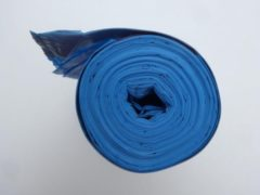 Merkloos / Sans marque Afvalzak 120 liter - extra stevig blauw plastic - 5 rollen x 10 vuilniszakken - liefst 500 gram per rol