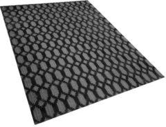 Beliani Vloerkleed donkergrijs 160 x 230 cm CIZRE