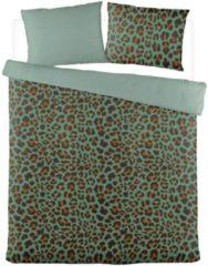 Byrklund Lazy Leopard - Dekbedovertrek - Tweepersoons - 200x200/220 cm + 2 kussenslopen 60x70 cm - Groen