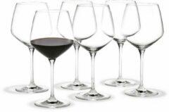 Holmegaard Perfection set van 6 burgundy glass 59cl