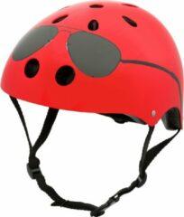 Rode Mini Hornit Lids Fietshelm Voor Kinderen - Met Led Achterlicht - The Aviator (M)