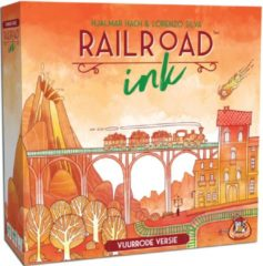 White Goblin Games Railroad Ink: Vuurrode versie