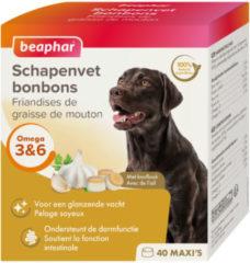 Beaphar Schapenvetbonbons Knoflook - Hondensnacks - 6 x Medium