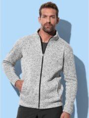 Stedman Fleece vest premium licht grijs voor heren - Outdoorkleding wandelen/camping - Vesten/jacks herenkleding 2XL (44/56)