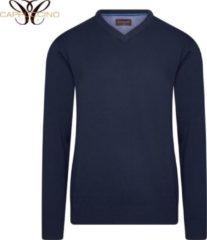 Cappuccino Italia - Heren Sweaters Pullover Navy - Blauw - Maat XXL