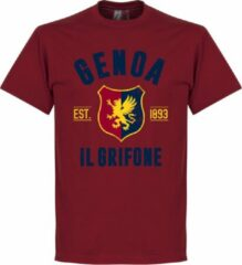 Retake Genoa Established T-Shirt - Bordeaux Rood - XXL