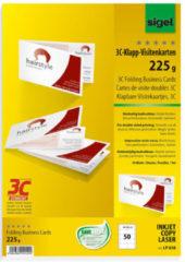 Witte FSC visitekaarten 3C Sigel dubbel 2-zijdig bedrukbaar 225gr