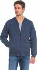 Marineblauwe Lemon & Soda L&S Heavy Sweater Cardigan Unisex