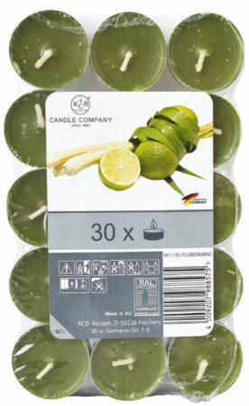 Afbeelding van Xenos Geurtheelichten - lemongras - 30 stuks