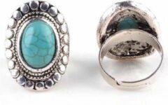 Yada Ring dames - Vintage verstelbaar - Natuur blauw
