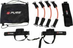 Pure2Improve Banden en riemen voor krachttraining - zwart,rood,wit