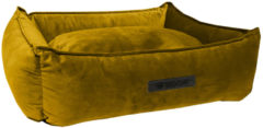 Wooff Mand Cocoon Velours - Hondenmand - 60 x 40 x 18 cm Oker Small