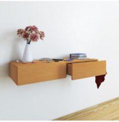 Wandschublade Wandregal Regal Wandschrank Dielenmöbel Hängeschrank Schublade Schlüssel Ablage VCM Buche