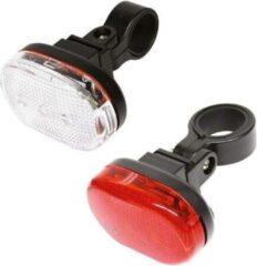 Rode Discountershop Fietsverlichting met Led - Werk met batterij - fietsverlichting led - fietsverlichting set - fietsverlichting met batterij