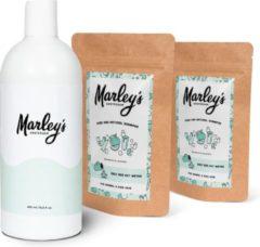 Marley's Amsterdam starterspakket XL   Duurzame en natuurlijke shampoo   Mandarijn & Lavendel (x2) + Herbruikbare shampoo fles   Shampoo starterskit   Maak je eigen duurzame en natuurlijke shampoo   Cadeau   Geschenkset   Giftbox