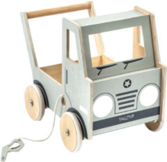 Grijze Truck Walker grey wooden | SmallStuff