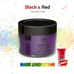 Paarse Black&Red Collection Magic Color Styler Haar Wax 100ml - Purple Rebel