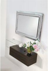 Pezzani srl Specchiera rettangolare telaio acciaio cornice vetro finitura cromo CURVO