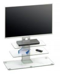 Zilveren Bermeo Glazen Tv meubel Ajax - Helder Glas