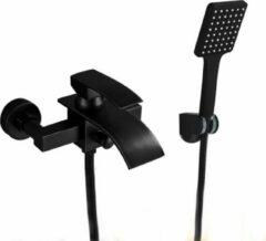 Merkloos / Sans marque Productgigant- Badkraan - inbouw badkraan - Mengkraan waterval - mat zwart
