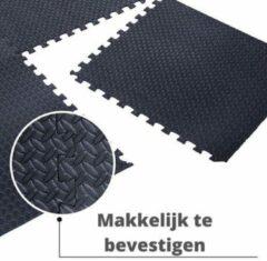 Antraciet-grijze Merkloos / Sans marque Vloermat/Floormat - Fitness Mat - Zwembad Tegels 10 + 2 GRATIS (Zwart) - Foam Puzzelmat - 40cm x40cm