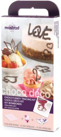 Afbeelding van Roze Mastrad Choco Deco Bakvorm - Giftset - Raspberry