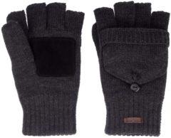 Zwarte Starling vingerloze handschoenen gebreid unisex noël zwart mt 7