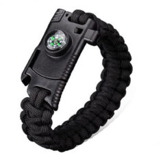 Meco IPRee® 4 In 1 EDC Survival Bracelet Outdoor Emergency 7 Core Paracord Whistle Compass Kit