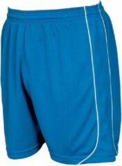 Precision Voetbalbroek Mestalla Unisex Polyester Blauw/wit Maat S